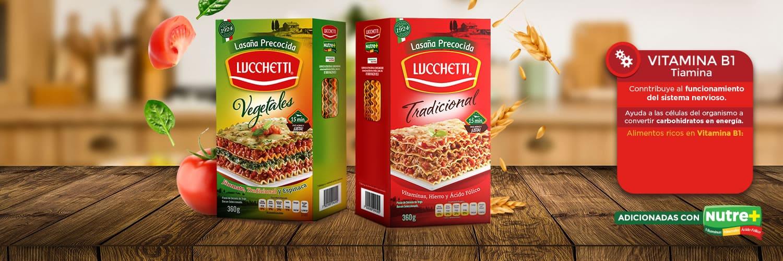 Paquete de lasaña precocida tradicional y vegetales